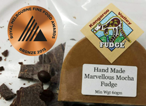 hand made award winnign fudge kangaroo valley