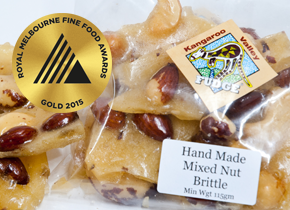 hand made gold award winning brittle kangaroo valley
