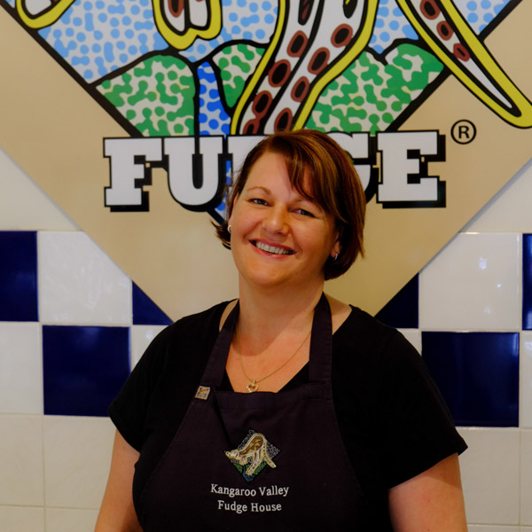 paula owner of kangaroo valley fudge house and ice creamery